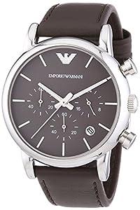 Emporio Armani 0 - Reloj de cuarzo para hombre, con correa de cuero, color marrón de Emporio Armani