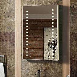 Enki Miroir rétroéclairé mural à LED pour salle de bains - Peut s'installer à la verticale ou à l'horizontale - 400x600mm