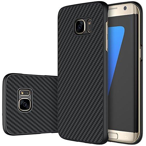 Nillkin Syn Handy Kunstfaser für Samsung Galaxy S7Edge, Schwarz (Syn-gummi)