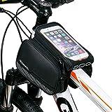 DCCN Rahmentasche MTB Fahradtasche Fahrrad Oberrohrtasche für Handy Smartphone(passend bis zu 5,5 Zoll)