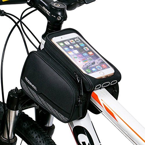 DCCN Fahrrad Rahmentasche Oberrohrtasche MTB Fahrradtasche Handy Tasche (passend bis zu 5,5 Zoll) mit klaren PVC-Schirm (Type3)
