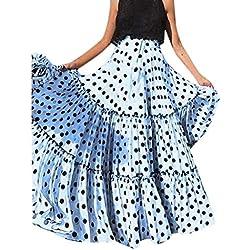 Vectry Falda Larga Mujer Faldas Largas Mujer Faldas Cortas Fiesta Falda Tul Niña Falda Tutu Niña Verano Falda Morada