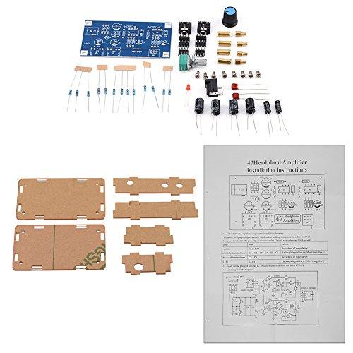 Zerone DIY HiFi Kopfhörer NE5532P Verstärker-Modul Board AMP Kits , 47K Widerstand mit Transparent Gehäuse dc3.7V-30V für Anschluss Zwischen Kopfhörer und Audio Source -