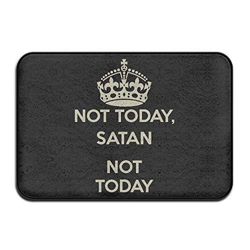 didian Not Today Satan Not Today Cool Outdoor Mats Outdoor Doormats for Front Door Funny Doormats (L23.6