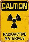 HALEY GAINES Caution Radioactive Materials Targa in Metallo Decorazione Parete Cartello Vintage Appendere Poster retrò Muro Placca per Bar Cucine Bagni Garage Hotel Giardino 20×30cm