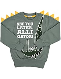 Tkria Little Kids Boys Dinosaur Sweatshirt T-Shirt Long Sleeve Tops Casual  Cotton Tee Shirts 8005c2cc1bca