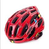Casco da bicicletta giovanile per equitazione (Color : Red)