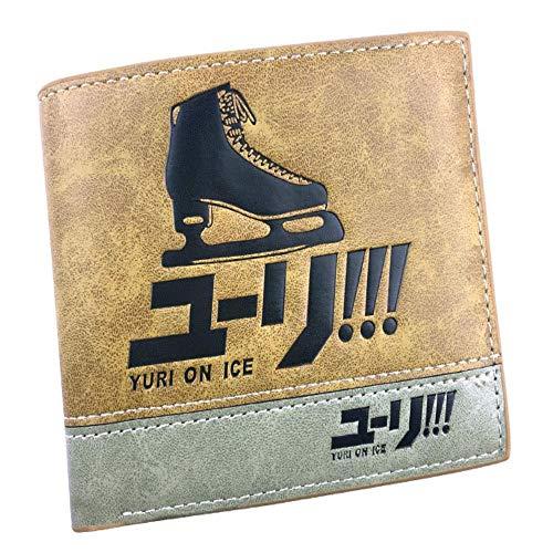 Wallet JoJo's Fantastic Adventure Leder Geprägtes Portemonnaie Cartoon Pikachu Wallet Colorblock Wallet, C (Pikachu Weibliche Anime)