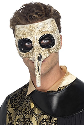 Smiffy's 45224 - Venetian Pest-Doktor Maske, beige (Doktor Pest Kostüme)