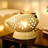 #10: Collectible India Handmade Ceramic Ethnic Electric Aroma Diffuser Essential Oil Burner with One Aroma Fragrance Oil