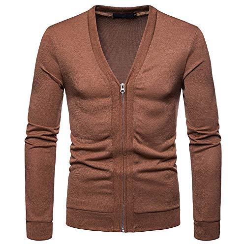 MIRRAY Herren Herbst Winter Pullover Zipper Pullover Slim -