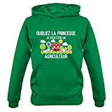 Oubliez la princesse, Je veux être un agriculteur - Enfant Pull - Vert Bouteille - XS (1-2 ans)