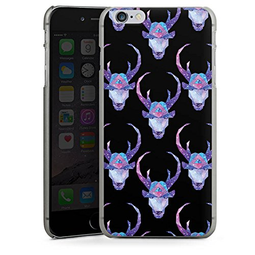 Apple iPhone X Silikon Hülle Case Schutzhülle Space Deer Reh Muster Hard Case anthrazit-klar