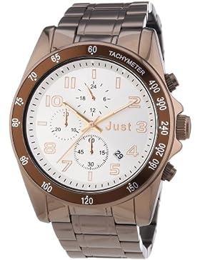 Just Watches Unisex-Armbanduhr Analog Quarz Edelstahl 48-S1230BR-SL