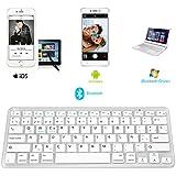 Rii BT09 teclado Bluetooth para Apple und PC , Windows 7 + 8,Linux,Mac OS X,Notebook,Laptop,Netbook,Mac Book,Tablets,Apple iPad,Samsung Galaxy Tab2,Galaxy Note,Smart Phones,Android,Iphone (Blanco)