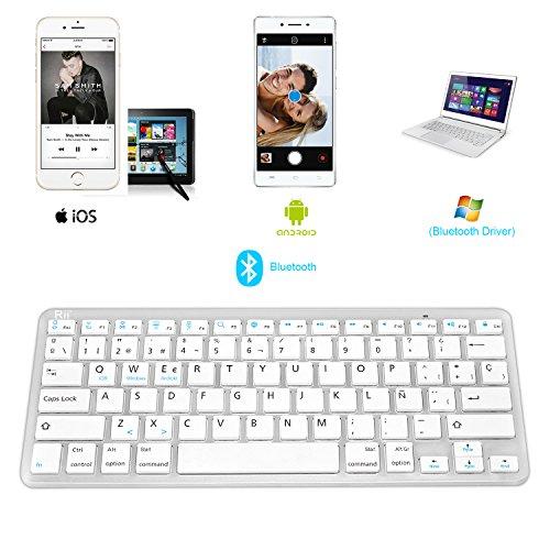 Rii BT09 teclado Bluetooth para Apple und PC , Windows 7 + 8,Linux,Mac