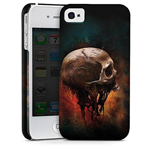 Apple iPhone X Silikon Hülle Case Schutzhülle Skull Halloween Scream Premium Case glänzend