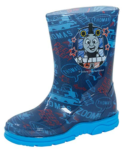 Kids Boys Hit Entertainment Thomas The Tank Engine Wellington Boots Rubber Rain Snow Blue Wellies Wellys Childrens Shoes Size UK 4 - 10