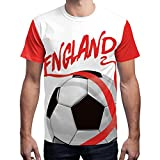 WM 2018 2018 Herren England Soccer Team T Shirt Außen Sport Party Championship Fußball Trikot England 2018 M