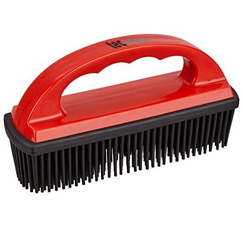 TECAROO Enthaarungsbürste für Fahrzeugpolster und textile Oberflächen mit Spezialborsten aus Gummi und Statik-Effekt | 2 Jahren Zufriedenheitsgarantie | Spezialbürste zum Entfernen von Tierhaaren, Tierhaar-Bürste, Pet Hair Removal Brush Katze-haar-flusen-bürste