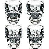 easytar cristal 3D Skull Pirate Shot Verre à cocktail bière tasse, Lot de 4