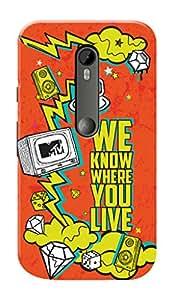MTV Gone Case Mobile Cover for Motorola Moto G3