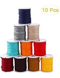 healifty 10rollos Nylon Cuerda hilo joyas para DIY Collar Pulsera artesanía Manualidades bisutería