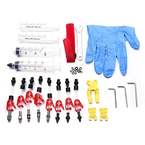 AYNEFY Kit di Spurgo per Freno, Brake Bleed Kit Attrezzi per la Riparazione di Attrezzi per Freni di Olio Minerale per Freni a Disco per Biciclett