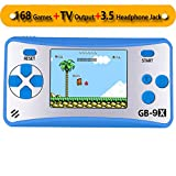 ZHISHAN Portable Handheld Game Console Gaming Player Birthday Gift for Kids Built in