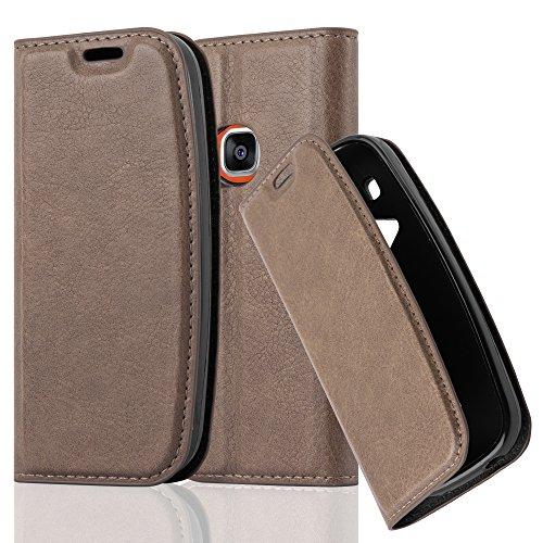 Cadorabo Hülle für Nokia 3310 - Hülle in Kaffee BRAUN – Handyhülle mit Magnetverschluss, Standfunktion und Kartenfach - Case Cover Schutzhülle Etui Tasche Book Klapp Style