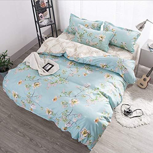 SHJIA Bettwäsche Set Unterwäsche Bettdecken Bettbezüge Doppel Erwachsene Bettlaken Set Euro Tagesdecke Königin König Bettwäsche Set Blau 180x220cm - Euro Tagesdecke