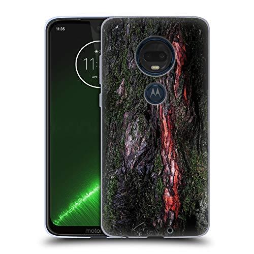 Head Case Designs Offizielle PLdesign Moosige Holz Rinde Holz Und Rost Drucke Soft Gel Hülle für Motorola Moto G7 Plus (Rinde Plus)