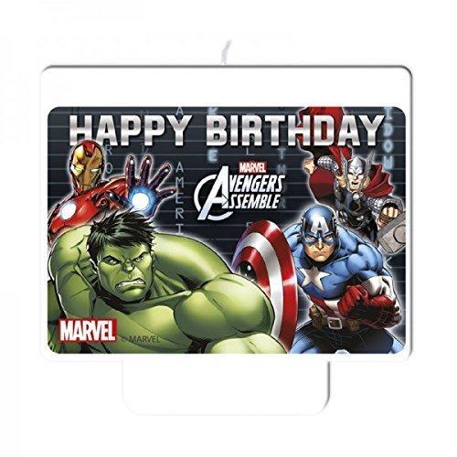 Marvel Vengadores ULTRON tarta de cumpleaños vela