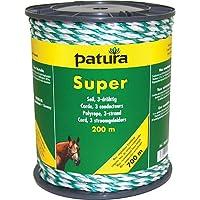 Patura Super Seil, 200 m Rolle 3 Niro 0,40mm, weiss-grün
