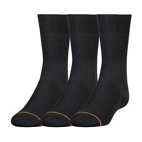 Gold Toe Jungen Socken, Einfarbig Gr. Medium, schwarz (Jungen Toe Gold Socken)