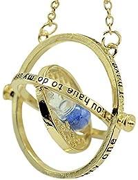 Giratiempos de Harry Potter Hermione collar giratorio - reloj de arena interior y arena