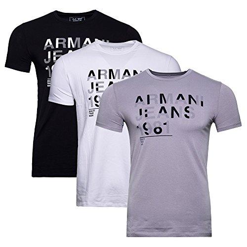 Armani Jeans Herren T-Shirt (M, Weiß) (Armani Jeans-jeans)