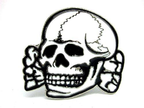 Choppershop White Skull Metal Belt Buckle