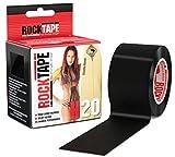 Rocktape H2O Fascia Elastica Adesiva Terapeutica, Black, 5cmx5m