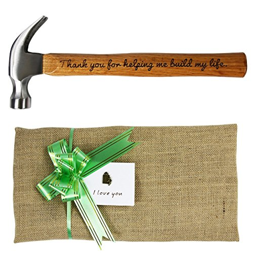 "Preisvergleich Produktbild langxun Vater 's Day Geschenk ""Thank You For Helping Me Bj My Life."" Gravur Holz Griff Stahl Hammer/Persönlichen Geschenke"