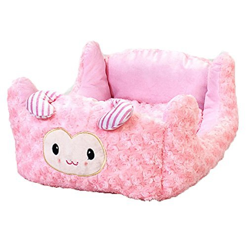 Anty-ni Lovely Cartoon Character Design Soft Cozy Dog Bed Pink Medium