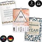 OfficeTree 3 Bastelkalender zum Selbstgestalten im Geometrischen Design - Kalender DIY in Din A4 - Immerwährender Kalender zum Selbstgestalten - Blanko Kalender zum Aufhängen