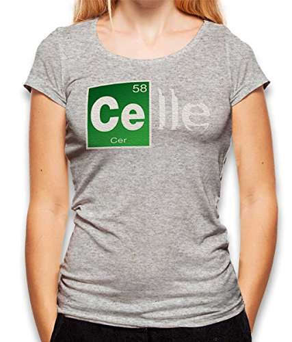 celle Damen T-Shirt Grau-Meliert S