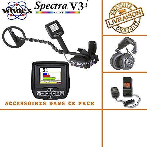 White's Spectra V3i - Detector de metales, auricular inalámbrico, pilas y cargador