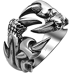 Sorella'z Stainless Steel Dragon Claw Ring For Men