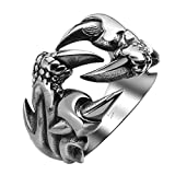 Sorella'z Mens Stainless Steel Dragon Claw Ring