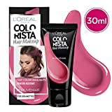 L'Oréal Paris Colorista Hair Makeup Colorazione Temporanea 1 Giorno per Ciocche e Punte, Tinta per Capelli Castani, Meches Rosa Malva, 30 ml