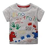 HEETEY Kleinkind scherzt Baby-Jungen-Kleidung Kurzarm-Cartoon-Muster übersteigt T-Shirt Bluse Mode-Kurzarm-T-Shirt mit Rundhalsausschnitt