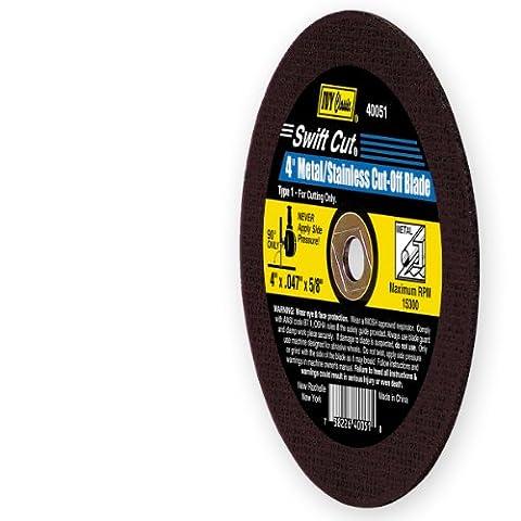 Ivy classique 40051Swift Cut 10,2cm X 0,1cm X 5/20,3cm, tonnelle en métal/acier inoxydable mince Cut-off Lame pour broyeurs, 1pièce