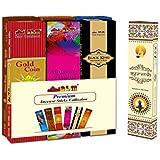 SLM Premium Incense 12 Packets 184 + Ayurveda Masala Sticks(Black)